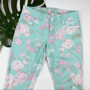 Seven Capri Jeans Stretchy Floral 12